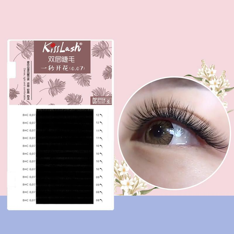 a19ef0c372a Kisslash Individual Lashes Double Curl And Length Faux Mink Fit For Volume  Eyelash Extension Make Up Eye Lashes Semi Permanent Eyelash Extensions  Applying ...