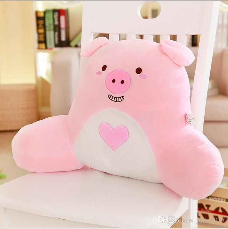 Cartoon Pillow Back Cushion with Arm Support Bed Reading Rest Waist Chair Car Seat Sofa Rest Lumbar Cushion