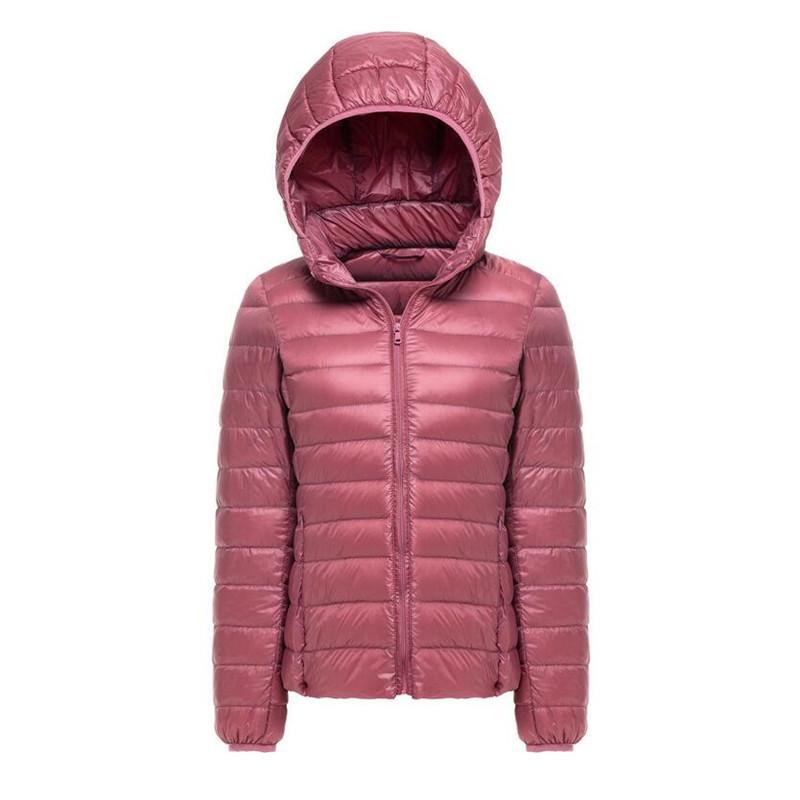 773940907f Piumino da donna invernale ultra leggero Piumino da giacca bianco anatra  con cappuccio Piumino sottile Parka Cappotto da donna in piumino