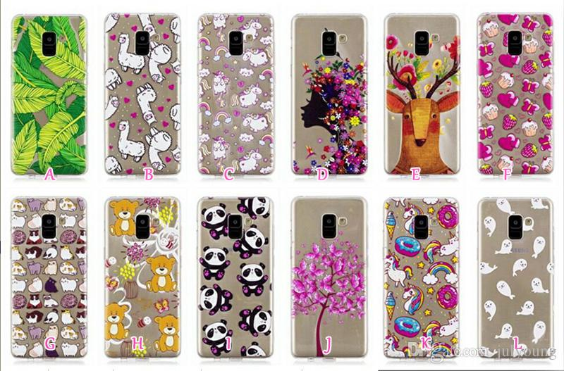 Soft TPU IMD Case For Huawei P20 Mate 10 Lite Galaxy S9 Plus A8 2018 Lace Flower Heart Unicorn Cartoon Love Panda Bear Sexy Girl Donut Cover