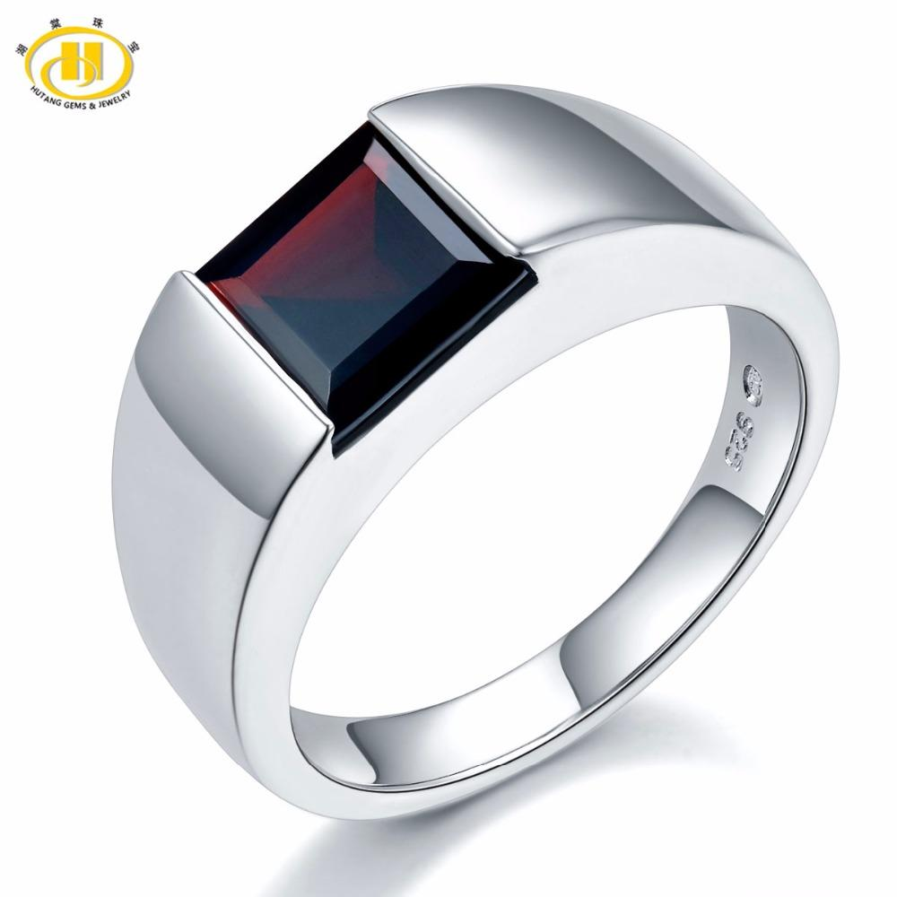 7b517d975 2019 Hutang Natural Gemstone Mystery Black Garnet Engagement Ring Solid 925  Sterling Silver Fine Fashion Stone Jewelry For Women Gift From Mangocc, ...