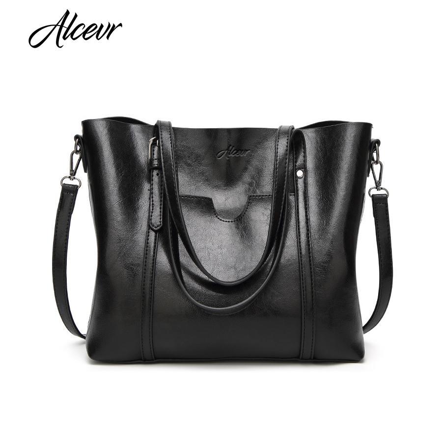 fdb121bd7857 ALCEVR Women Bag Luxury Handbags Outlet Women Tote Shoulder Bag Soft Leather  High Capacity Vintage Designer Handbag Famous Brand Designer Bags Hobo Bags  ...