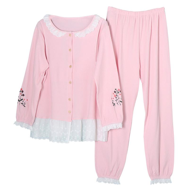 10648cabee4cb 2019 Maternity Pajamas For Pregnant Women Clothing Lace Cotton Nightgown  Lactation Maternity Nursing Nightgowns For Breastfeeding From Bradle, ...
