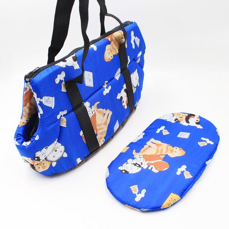 Fabricante Pet Carrier Dog Bags Coreano Impreso Pet Mochila para Perros Pequeños Gato Chihuahua Esponja Suave Portátil Bolsa de Viaje