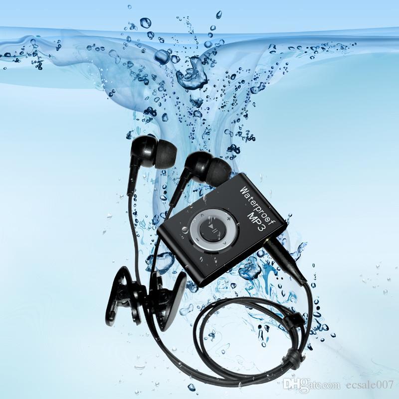 IPX8 Su Geçirmez MP3 Çalar Yüzme Dalış Sörf 8 GB / 4 GB Spor Kulaklık Müzik Çalar ile FM Klip Walkman MP3 Çalar