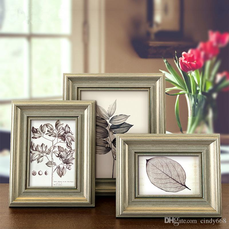 2018 Vintage Olive Green Style Table Photo Frames 6 7 8 10 Inch Diy ...