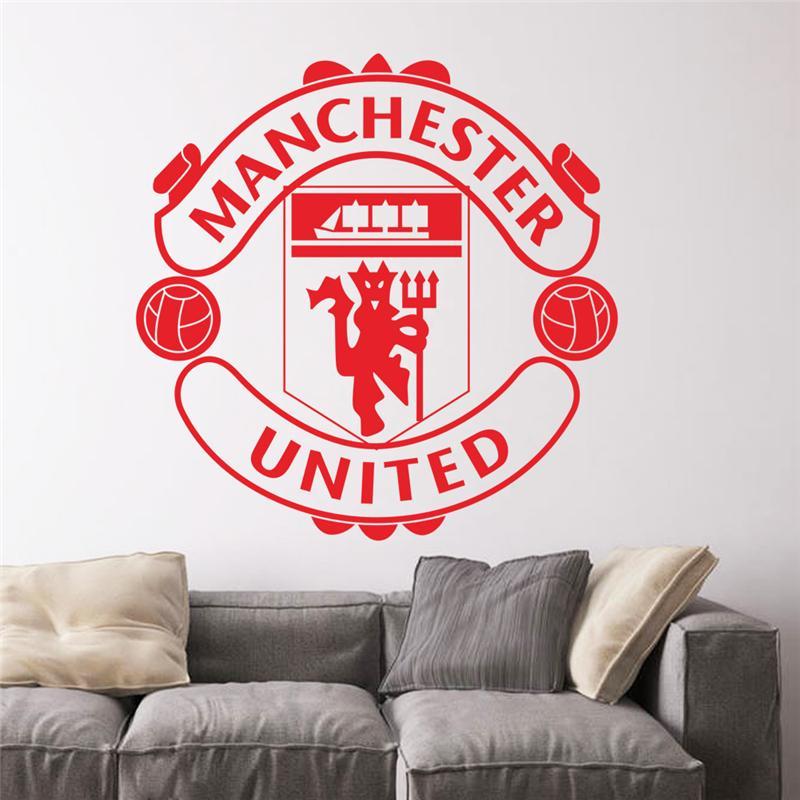 Großhandel Fußball Club Logo Wand Aufkleber Für Kinderzimmer ...