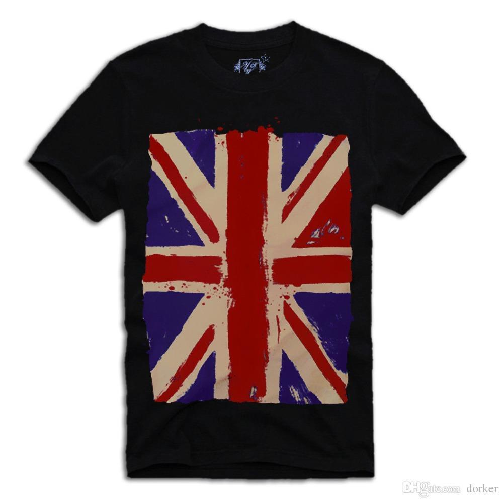 2018 Summer Casual Man T Shirt UK FLAG Union Jack VINTAGE T SHIRT Sz.S M L 0165bef3667f