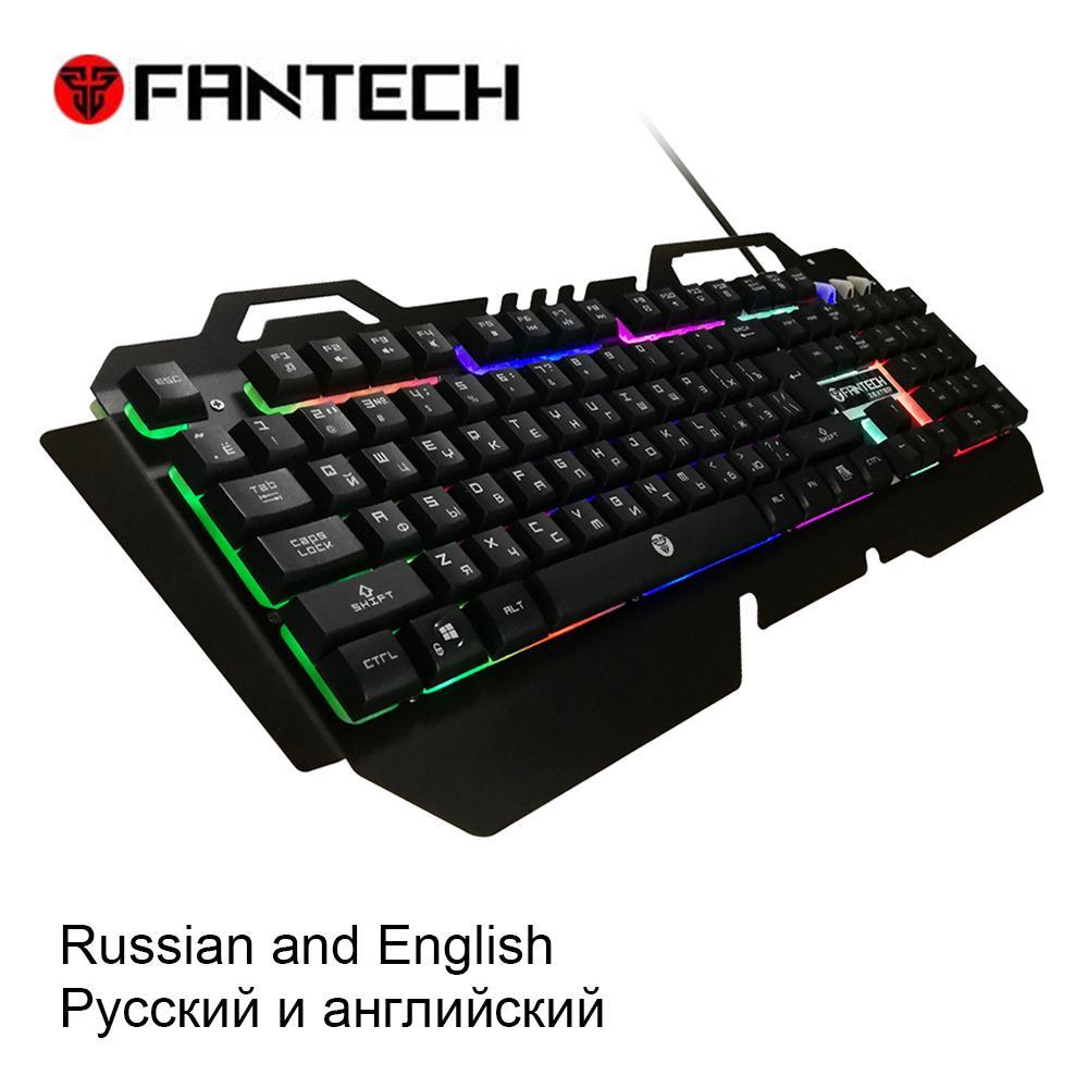 80cd604fe3d FANTECH K610 Russian And English Membrane Waterprof Gaming Keyboard RGB 104  Keys LED Light Keyboard 19 Key Without Conflict Best Keyboards Best Midi ...