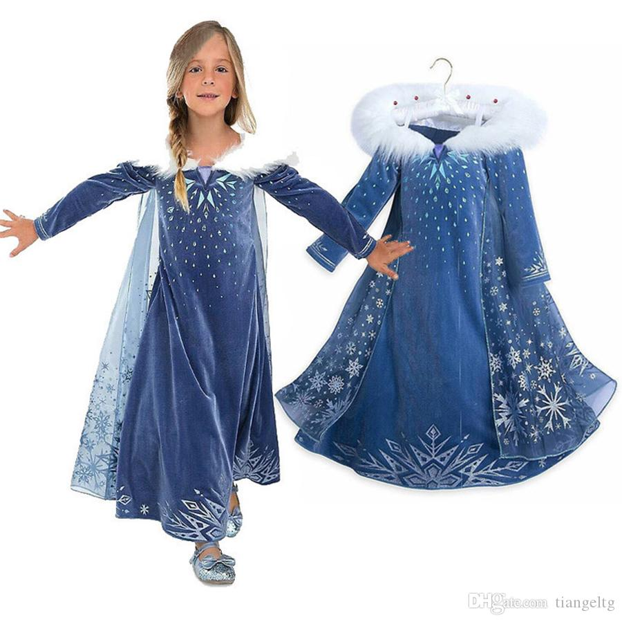 67c4f3648 2018 New Frozen Dress Printed Dresses Winter Long Sleeve Coat ...