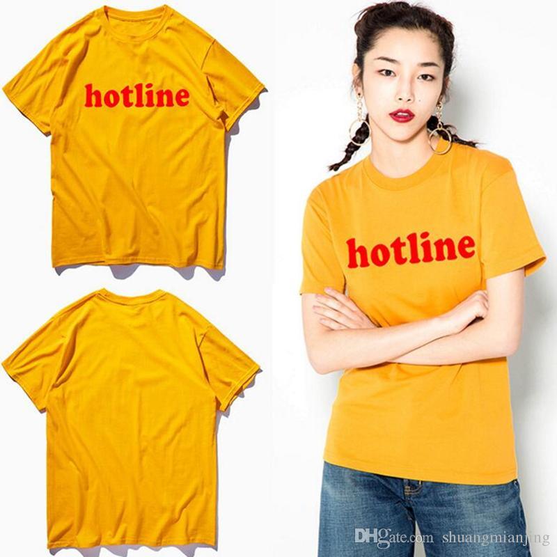 d7ba204884c High street women t shirt hip hop girls summer plus size women s t-shirt  casual couple style yellow harajuku man tees