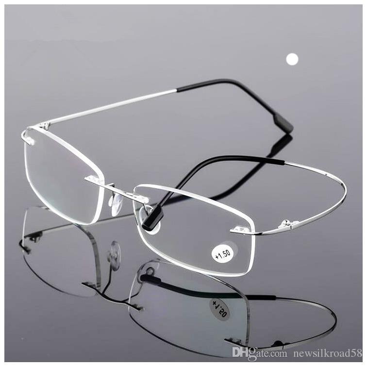 5e6c4e7f7e New Fashion Ultra Light Flexible Memory Rimless Titanium Reading Glasses  For Men Women Magnetic Presbyopic Eyeglasses Reading Glasses Designer  Reading ...