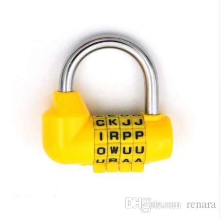 2019 4 dial digit letter combination travel security code lock diary password padlock from renara 86 dhgatecom