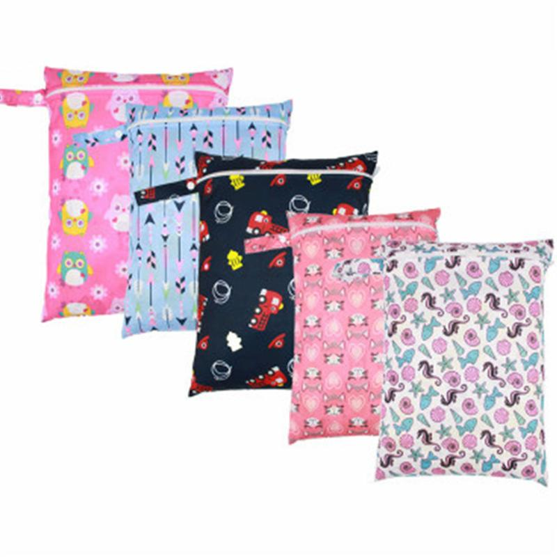 280036fcec5b65 Baby 30*40cm Single Pocket Diaper Bag TPU Polyester Waterproof Wet Nappy  Bags Pail Liner Laundry Bags Portable Cloth Diapers UK 2019 From Singnice,  ...