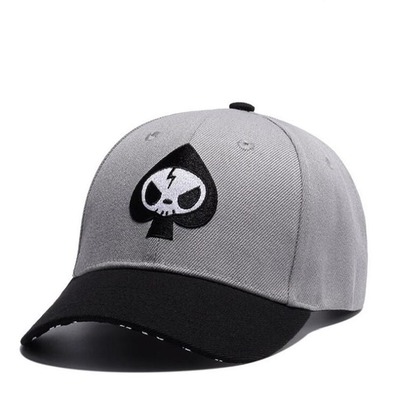c908ee8ff2660 Hip Hop Mens Adjustable Skull Embroidery Hat Fashion Leisure Skeleton  Design Women Baseball Cap Cotton Casquette Drop Shipping Skull Baseball Cap  Skull Hat ...