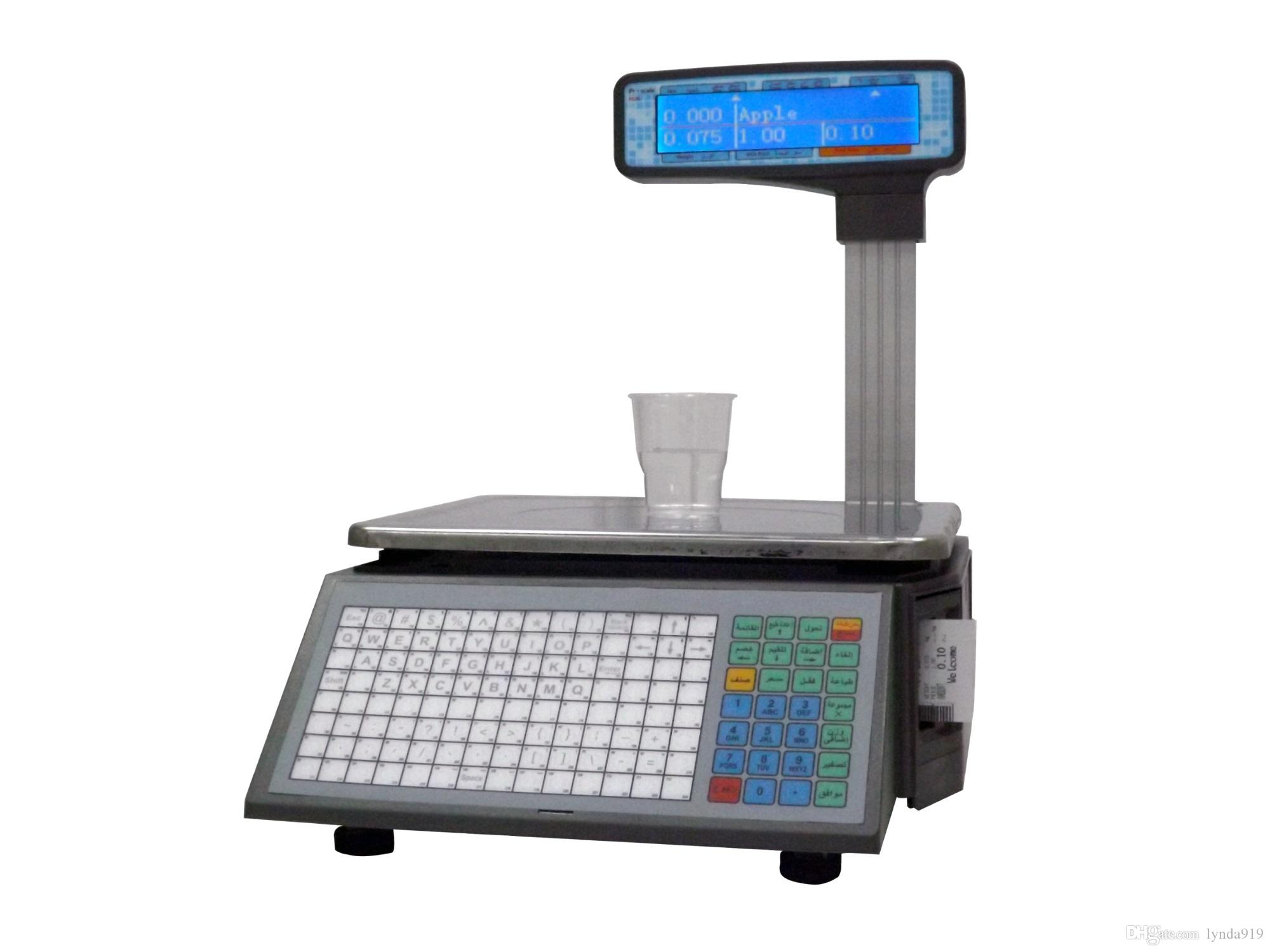 LP-16LD Elecronic Barcode Label Scale, Supermarket Label Printing Scales,  POS Price Computing Weighing Support English/ Arabic/Spanish/Hindi