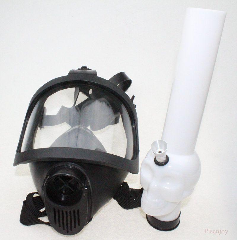 Gasmaske Bong Water Huka Acryl Raucherpfeife Tabakröhrchen Großhandel