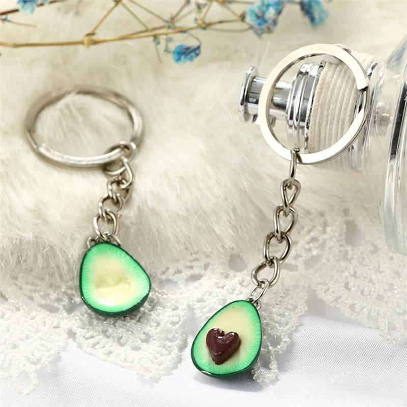 couples jewelry fruit key chain ring keyring couple bag chain 3d