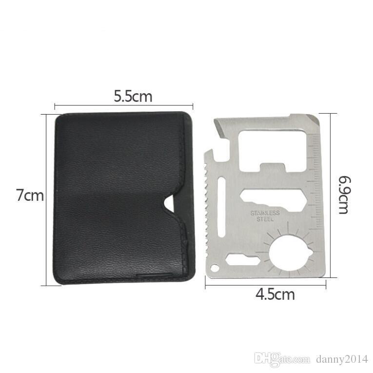 미니 스테인레스 스틸 멀티 포켓 신용 카드 도구 휴대용 야외 서바이벌 캠핑 지갑 카드 도구 나이프 야외 기어 EDC 도구