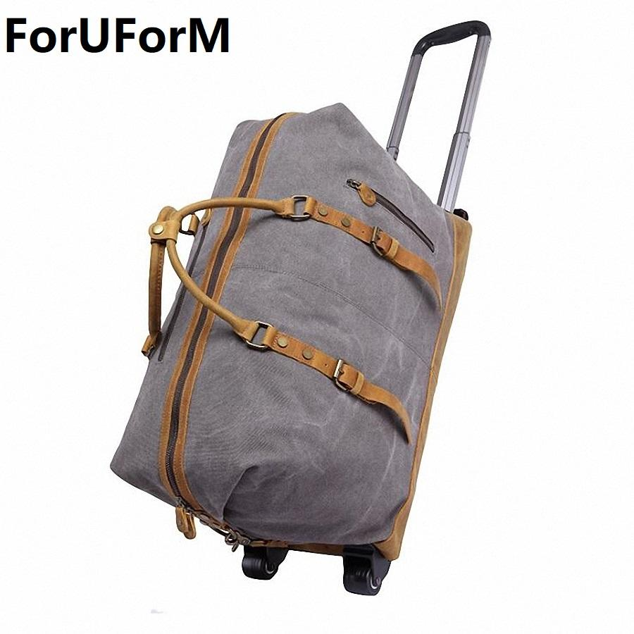b2e4e901ae New High Grade Lightweight Wheeled Seater Pull Rod Travel Luggage Boarding  Box Draw Bar Unisex Travel Duffle Luggage Bag LI 2036 Travel Duffel Bags  Duffle ...