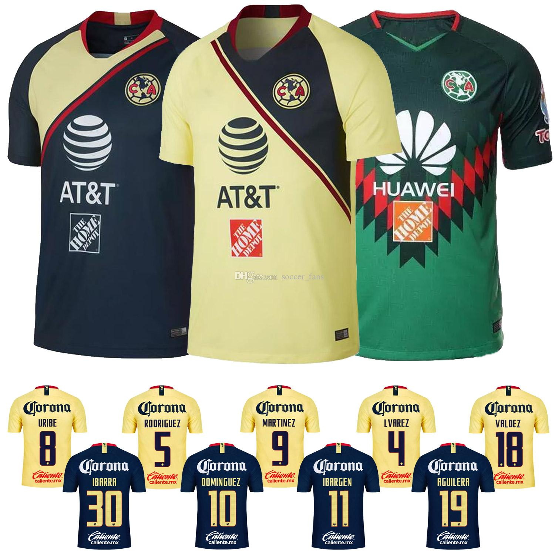 separation shoes af868 9f2fc New 2018 Mexico CF América Jersey 18 19 URIBE RODRIGUEZ MARTINEZ DOMINGUEZ  America Futbol Camisa 2019 Home Away Fourth Soccer Shirt Liga MX