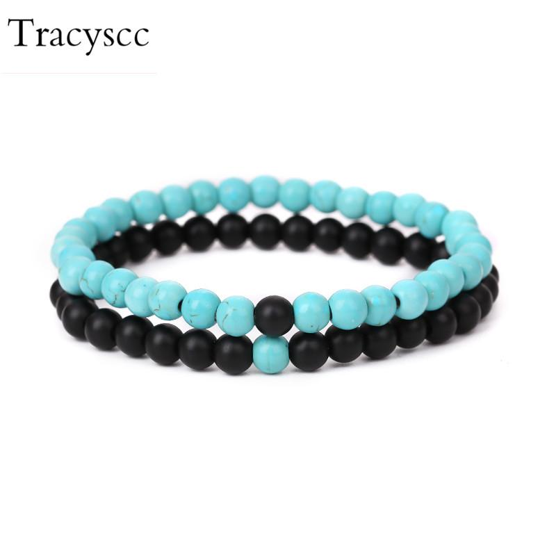 Bracelet,Natural Stone 6 Mm Beaded Strand Ball Bracelet for Men Women Jewelry Jewellery & Watches