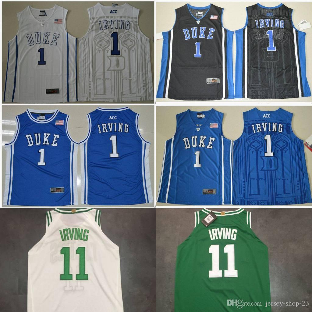 4cbc0ac3a7b ... spain 2018 duke blue devils 1 kyrie irving v neck mens american college  stitched embroidery cheap