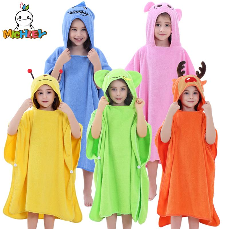 aab16d06ef 2019 MICHLEY Children Towels Newborn Baby Girls 100% Cotton Bath Robe Boys  Spring Breathable Animal Hooded Clothes Kids Bathrobes WEE From Vingner