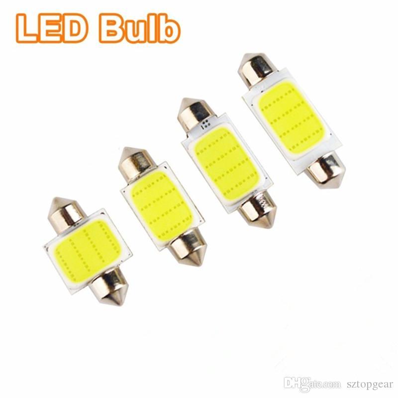 LED COB Bulbs 31mm 36mm 39mm 41mm Interior Light 12 SMD Reading Dome Festoon License Plate Trunk Lamp White/Ice Blue 12V
