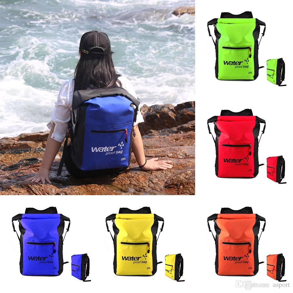 25L Outdoor Waterproof Swimming Bag Backpack Bucket Dry Sack Storage ... 2cb19dd735bfc