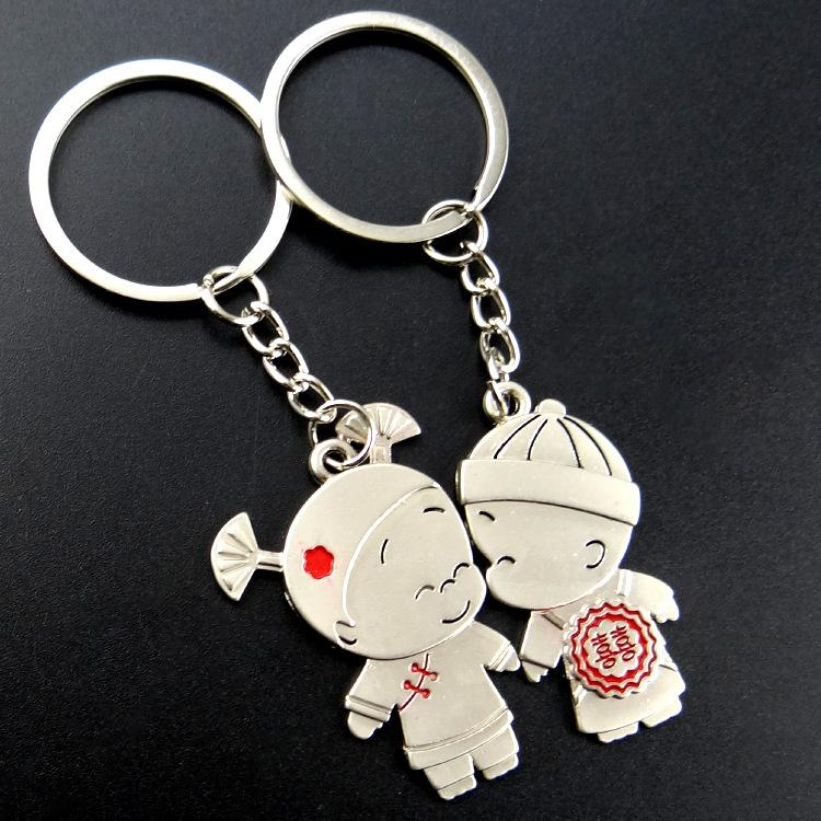 Good Luck Couple Boy Girl Love Keychain Fashion Men Women Keyring Key Chain  Valentine S Day Birthday Gift For Lover Wedding Favours Ireland Wedding  Favours ... e240dfddd