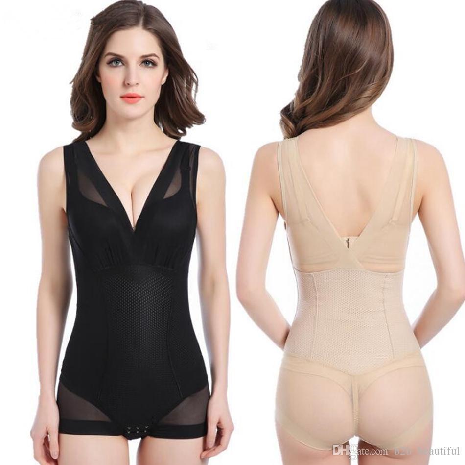 351436ec8c7e1 2019 Slimming Burn Fat Briefs Shapewear Tummy Slim Bodysuit Full ...