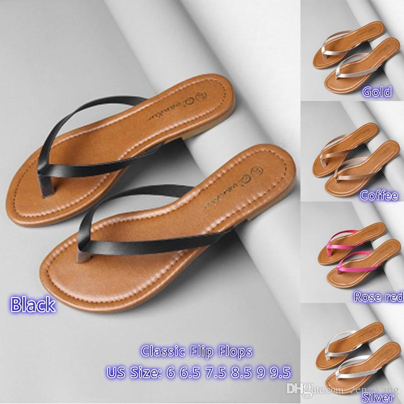 4951a3541 2019 2018 Summer New Fashion Women Slipper Classic Flip Flops Casual Shoes  Beach Slipper Sandals From Zenawang