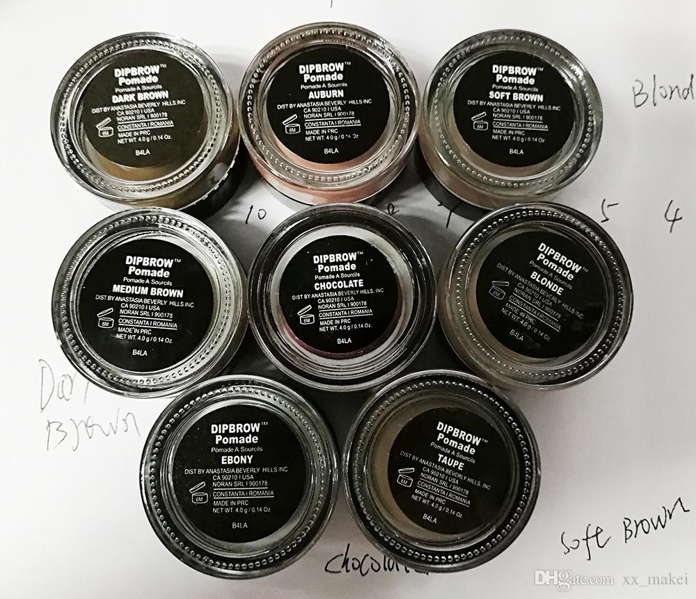 Stock 2018! Crème pour les sourcils Pommade brun moyen Etanche Maquillage Sourcils 4g Blonde Chocolat Brun foncé Ebène Auburn Brun moyen TALPE +