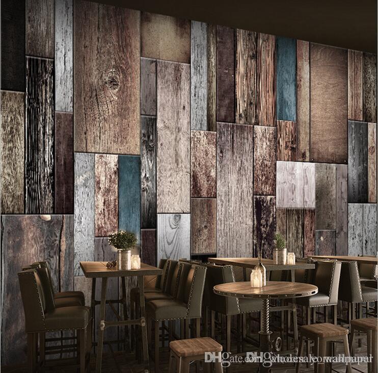 Moderne 3d tapeten vlies Holz tapeten Moderne Designer Wandverkleidung  Einfache 2 farben Für Wohnzimmer Schlafzimmer DIY Dekor