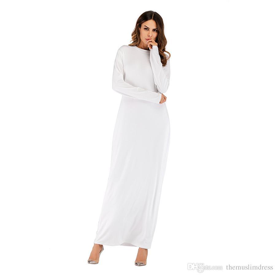 Wholesale Women Long Sleeved Maxi Dress S 2XL Plus Size Women Round ...