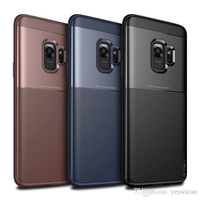 best website 7cfbe 950d4 iPaky Case For Samsung S9 S9 Plus Back Cover S9 PC TPU Drop-proof Hard Soft  Cases Retail Package Wholesale In Stock