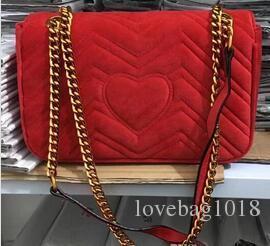 842161bd7f760b 2018 Hot Sale Marmont Velvet Shoulder Bag Lady Luxury Brand Designer ...