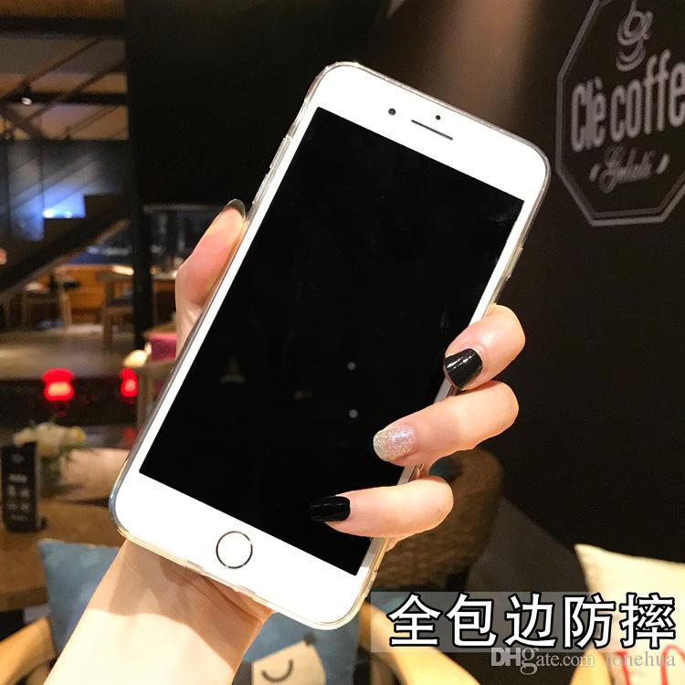 Personalidade Absorção À Prova de Choque Pintado Casos de Telefone Criativo Proteção Da Câmera TPU Para iPhone X 7/8 7/8 Mais 6/6 s 6/6 s além de