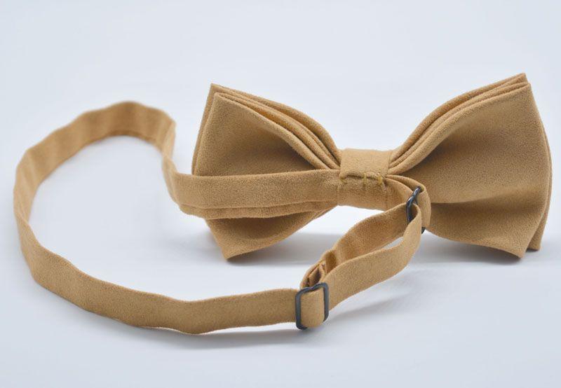 Factory promotion Mens Adjustable Suede Leather Bow Tie Pre Tied Neck Bowtie Bow Tie Men Fashion Accessories