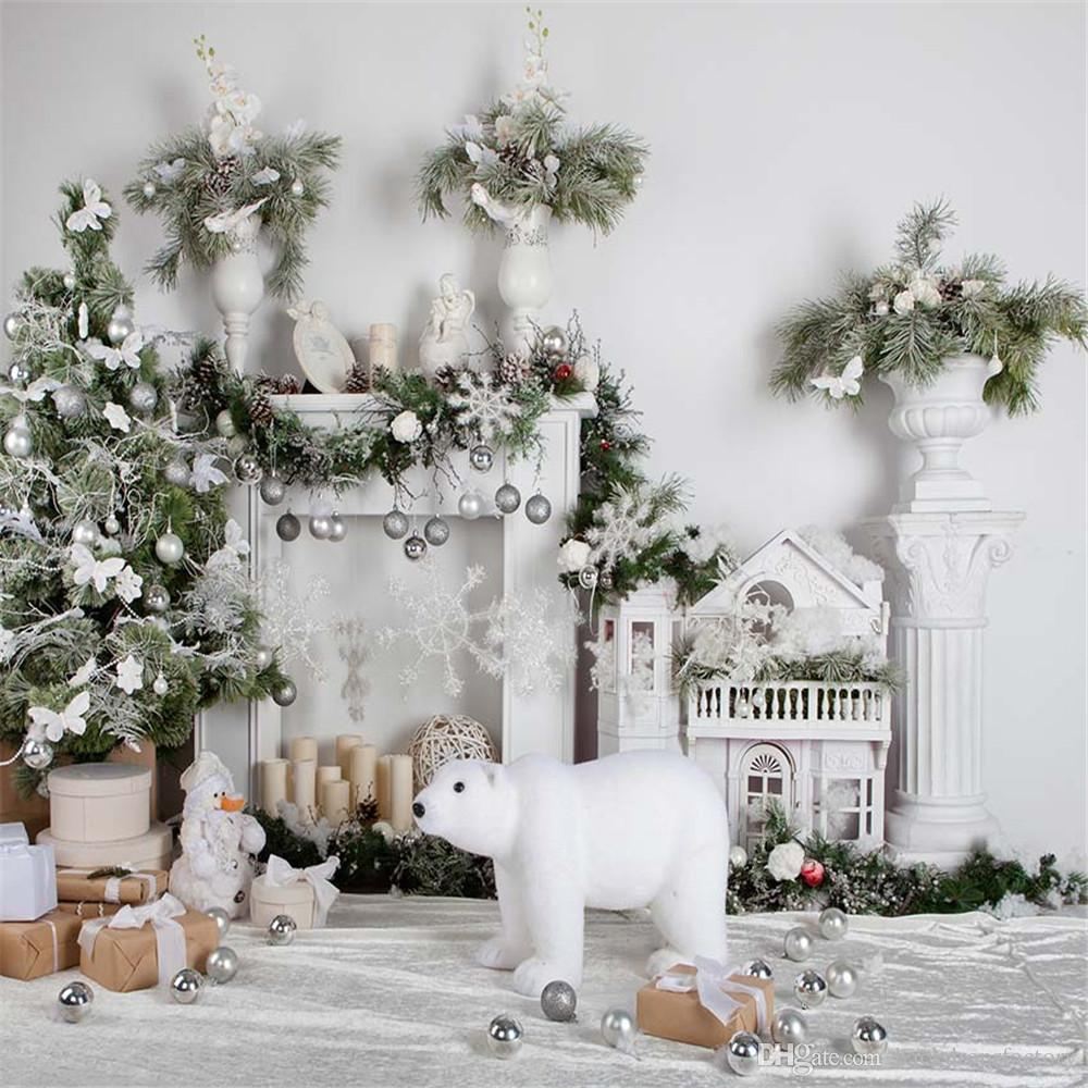 2018 Indoor Fireplace Christmas Backdrops Printed Home Decoration ...