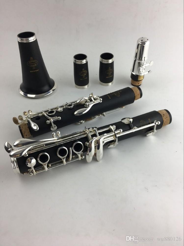 Copie Buffet SIb Clarinette R13 17 clés bakélite Clarinette Instrument de musique avec le cas les plus vendus de la Chine Livraison gratuite