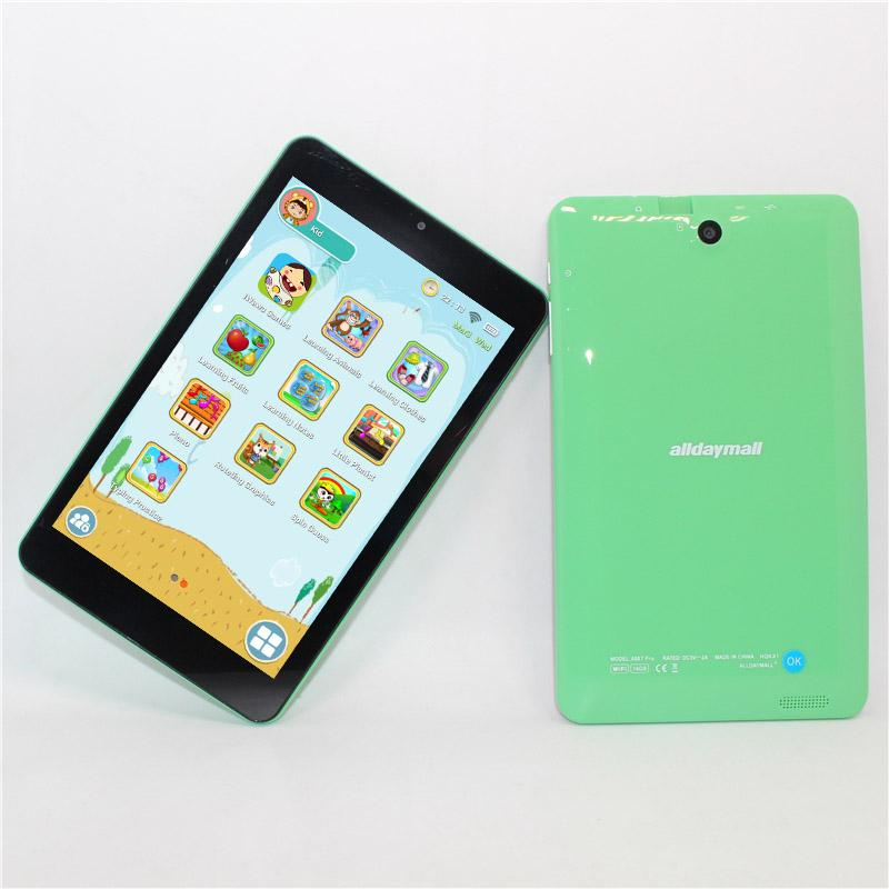 Children s gift 7 inch AllWinner A64 Kids Tablet Quad core 1280*800 Android  5 1 1GB 16GB WIFI Colorful colors