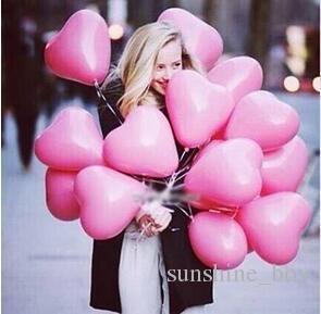 Romantik 12 Inç 2.2g Kırmızı Aşk Kalp Lateks Düğün Helyum Balonlar Sevgililer Günü Doğum Günü Partisi Şişme Balonlar