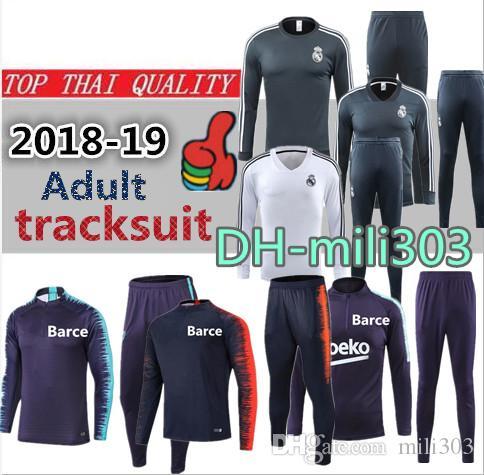 934dd7704 2019 18 19 Real Madrid Soccer Chandal Tracksuit 2018 2019 La Liga Madrid  Football Jacket 2019 Top Quality Training Suit Skinny Pants Sportswear From  Mili303 ...