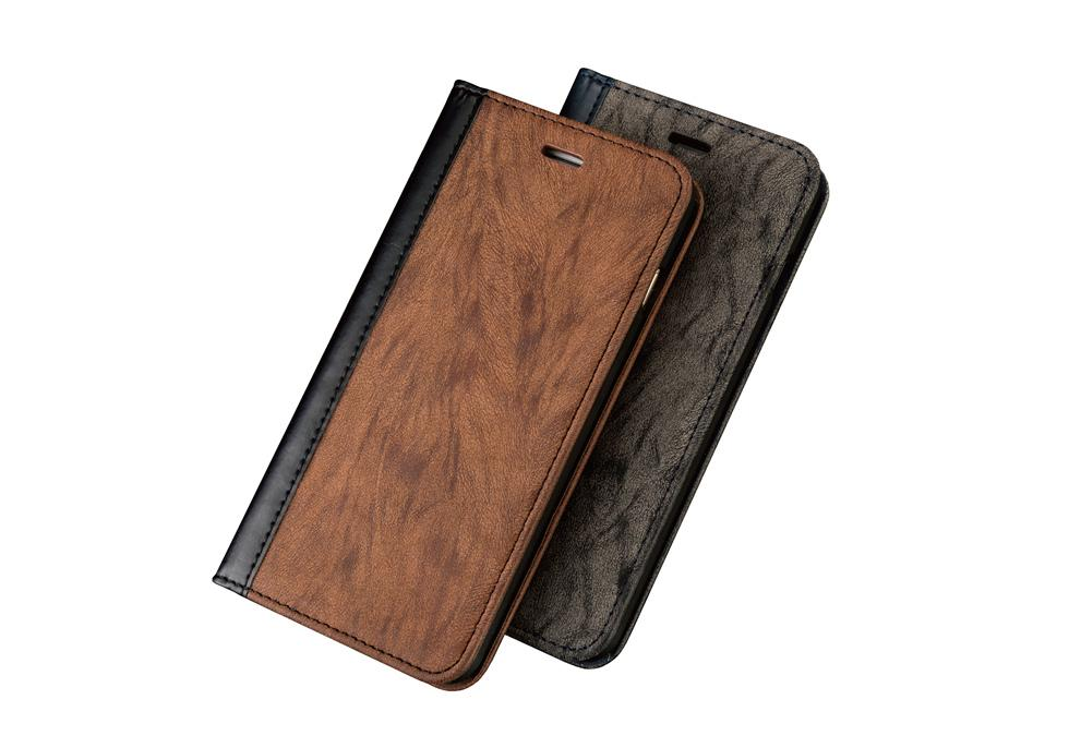 Ultra thin PU leather mobile phone case with metal inside for your magnet car holder ,for iPhone sticky case with custom logo phone case