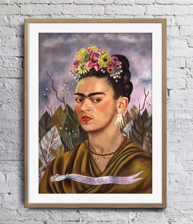 gro handel frida kahlo selbstportr t gewidmet dr eloesser kunst poster wall decor bilder. Black Bedroom Furniture Sets. Home Design Ideas