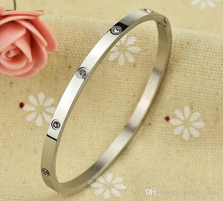 Nueva pareja tornillo pulsera acero titanio hebilla de oro 18k modelos masculinos y femeninos popular pulsera de hebilla oscura