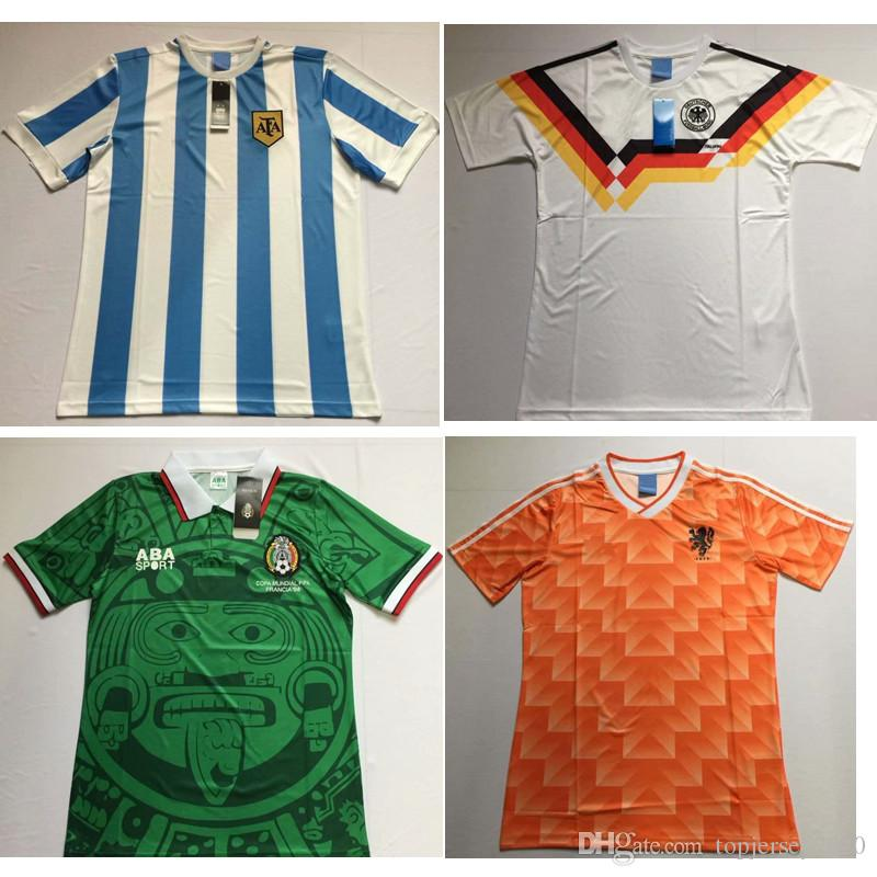 45a70313d5fb9 2019 S 2XL 1998 Mexico Retro Jerseys Classic Vintage Soccer Jersey Home  Green HERNANDEZ BLANCO 98 Football Shirt Camisa De Futebol From  Topjersey2020