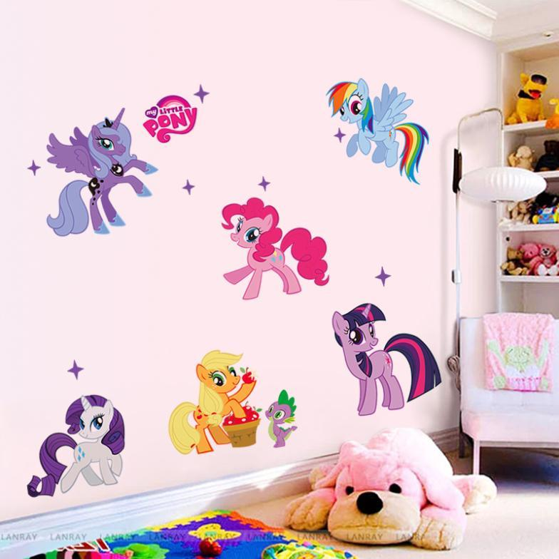 Lovely Cartoon Wall Stickers For Kids Rooms Wall Decals Girls